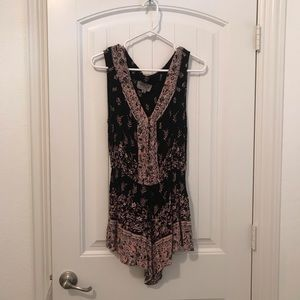 URBAN OUTFITTERS Patterned Romper